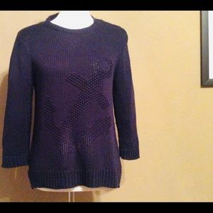 Ann Taylor Navy Pullover sweater-Size LP